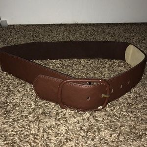 Brown waist belt stretchy